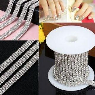DIY Sparkling Chain Beautiful Rhinestone 1-row 2-row 3-row Trim Crystal 1 Yard