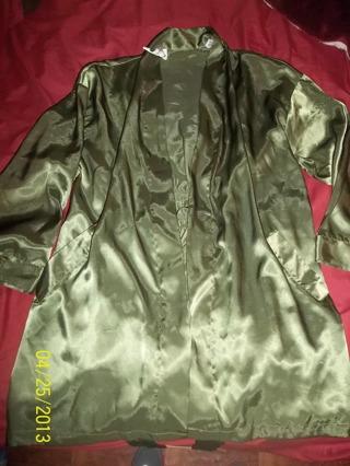 VICTORIA SECRET Olive Robe O/S 2999 GIN
