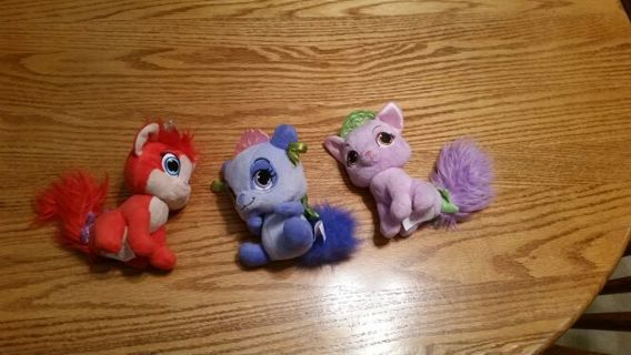 My daughters listing- 3 stuffed palace pets