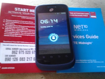Free: Net10 Midnight Andriod Phone* Never activated - Phones