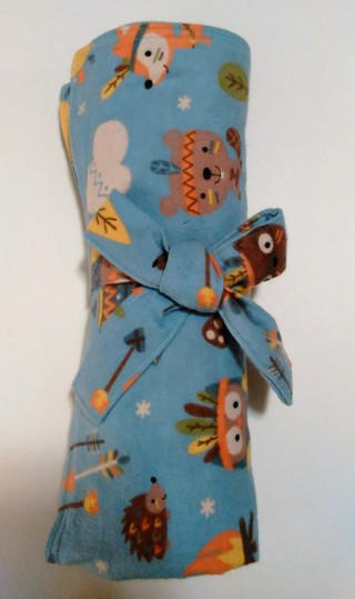 *Multi-Colored Animal Print Baby Receiving Blanket - One of a kind, handmade!