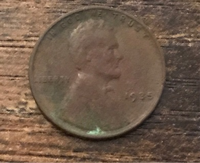 1935 Lincoln Cent Wheat Penny Coin