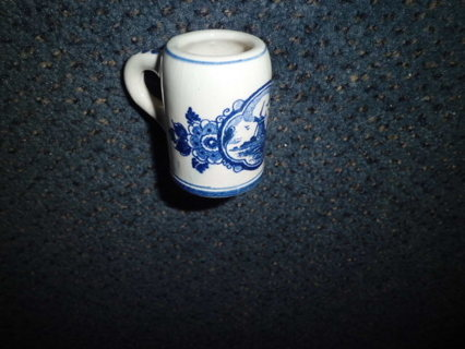 ANTIQUE SMALL HAND PAINTED DELFT HOLLAND MUG XLNT COND FREE SHIPPING!