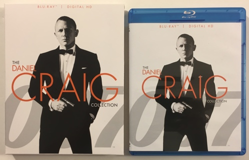 The Daniel Craig Collection 3-Disc James Bond Blu-ray Movies: Casino Royale, Quantum Solace, Skyfall
