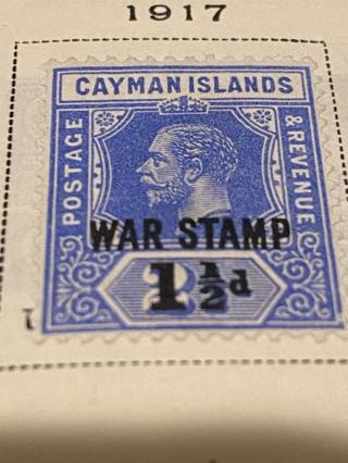 1917 Cayman Islands War Tax stamp