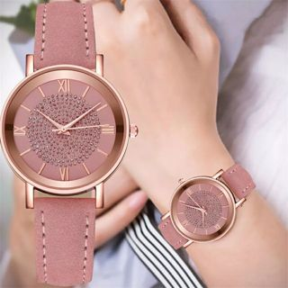 Ladies Watches Fashion Diamond Women Stainless Steel Dial Analog Quartz