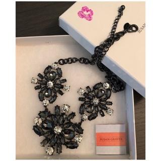 Susan Graver Fashionable Statement Maker Large Flower  Necklace