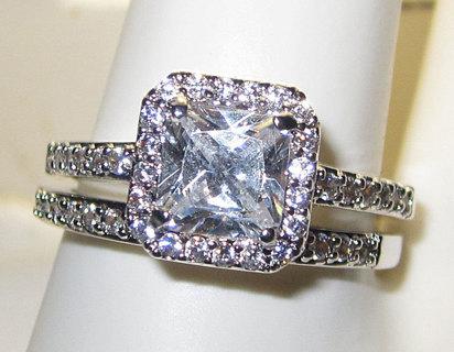 WEDDING ENGAGEMENT RING PINK, YELLOW or WHITE DIAMOND YOUR CHOICE NEW Bachelorette Bling Wedding Set