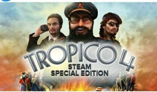 Tropico 4 steam special edition key.brand new.