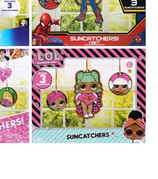 LOL Surprise Licensed Character Mega Paintable Suncatchers, 3 ct. Packs