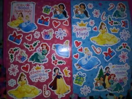 Christmas princess 2 sticker sheets Lowest gins always! No refunds! No lower! Selling out!