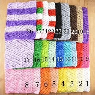 "9"" Toddler Chest Wrap Baby Girl Elastic Tutu Tube Top Crochet headbands 33 Color"