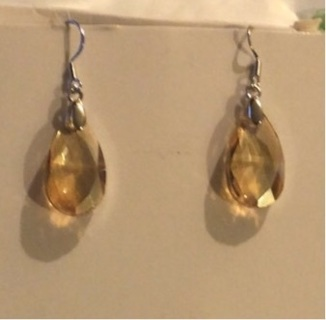 Brand New: Colorful and Chic Crystal Silver - Type Drop and Dangle Pierced Earrings.