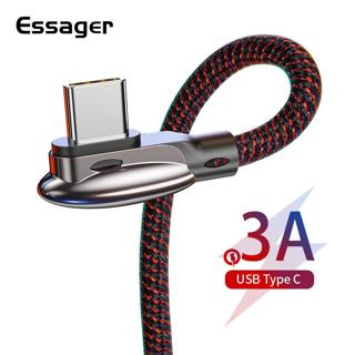 Essager USB Type C Cable 3A Fast Charging USBC Type-C Cable for Xiaomi mi 9 8 Samsung S10 S9 S8 On