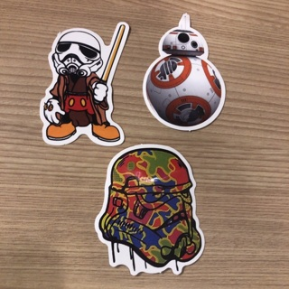 Star Wars  3 inches stickers lot of 3 Disney