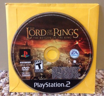 Lord Of The Rings: The Return of the King (Sony Playstation 2, 2004) Game Only. Tested.