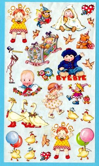 Adorable Vintage BABY STICKERS Acid-Free