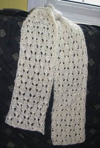 Free Dewdrop Simple Lace Scarf Knitting Pattern Other Womens