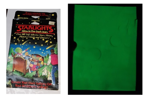 Cool GLOW IN THE DARK Stars SPACE from 1987 GLOWS Mad - Decorate a Room