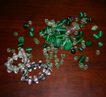 Lot of Beads - Mostly Green!