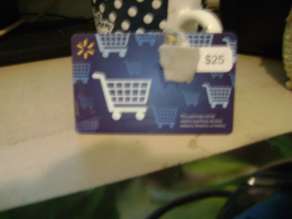 Walmart Gift Card-25.00-GIN only.Free Shipping Or Digital Delivery