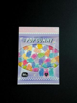 "Crux '2019'~""Pop Gummy"" Mini-Memo Pad **Last One, Available!!** ☆Kawaii Bonus☆"