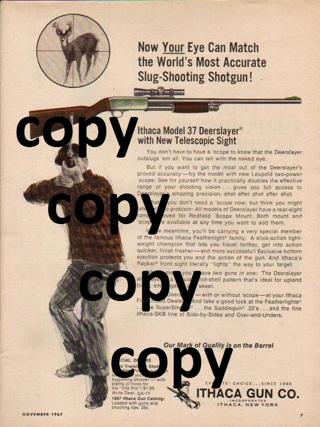 Free: 1967 Ithaca Deerslayer Shotgun Full Page Ad