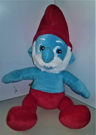 """2011 Build-A-Bear PAPA SMURF stuffed character doll - 16"""" tall - 8 oz. - VG condition"""