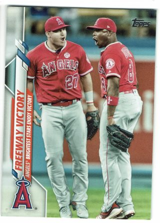 """Mike Trout """"Freeway Victory""""  2020 Topps"""