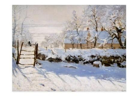 Claude Monet Postcard The Magpie