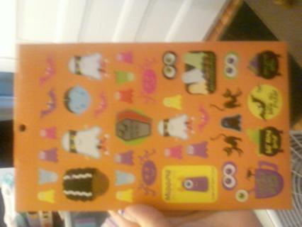 Orange Sheet Spookey Stickers #2