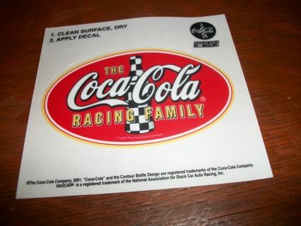 free coca cola racing family 2001 nascar coke race decal sticker
