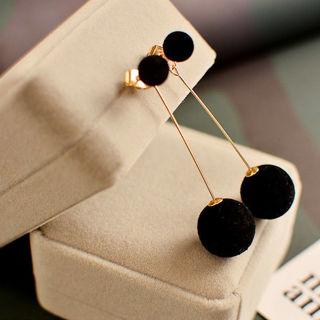 omen Ball Double-sided Earrings Long Dangle Jewelry Charm Hot