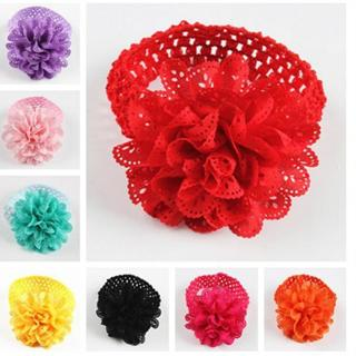 Hairbands Floral For Girls Kids Headband Baby Girls Flower Headband Lace Bow Hairband Flower Headb