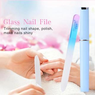 Professional Crystal Glass Nail Files Buffer Manicure Device Nail Art Decorations Tool Sanding Buf