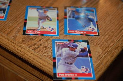 Set of 3 Texas Rangers Baseball Cards - O'Brien