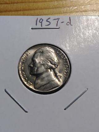 1957-D Jefferson Nickel! 15
