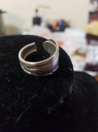 Silver Spoon Ring SZ 8 #6