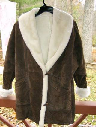 Wilsons Womans Leather Winter Coat Size Med, GIN gets FREE Shipping!