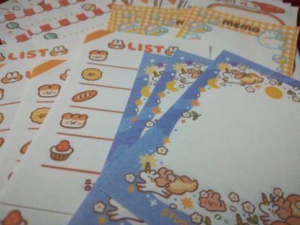 35 Kawaii mini memo sheets