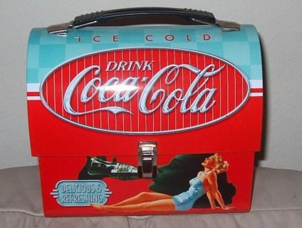 Coke A Cola Metal Lunchbox