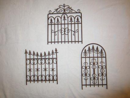 Free Set Of 3 Metal Garden Gate Wall Art Decor Sweet