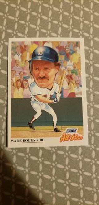 Free Wade Boggs 1991 Score All Star Big Head Card Sports