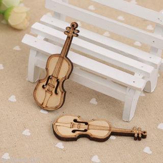1PC Retro Mini Wooden Violin Dolls House Decoration Musical Instrument Gift