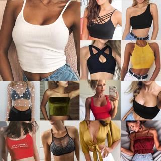 Women Sexy Casual Tank Top Vest Blouse Sleeveless Summer Crop Top Shirt Cami Top