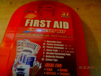 37 piece 1st aid kit and sanitizer