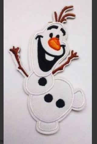 1 NEW Snowman Olaf Frozen Iron on PATCH Applique, White Snowman FREE SHIPPING