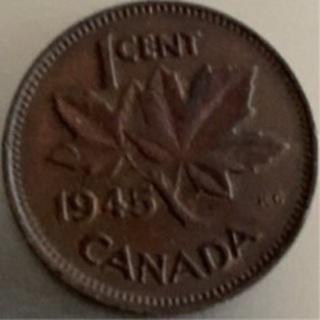 Canada 1945 penny