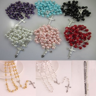 Long Pearl Rosary Beads