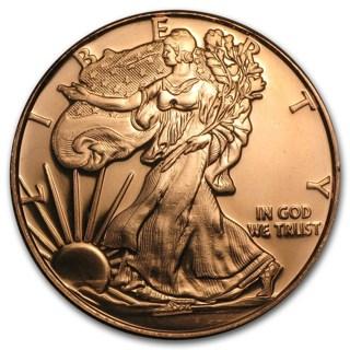 1 oz Walking Liberty Coin Copper Round .999 Bullion FREE Shipping!